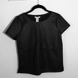 NWT Faux Leather Top